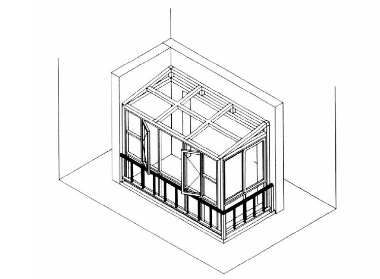 老式八角阳台结构图