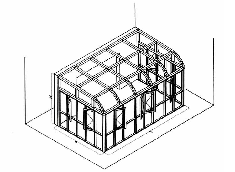 简易花房结构图