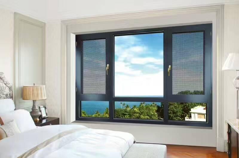 窗纱一体平开窗案例